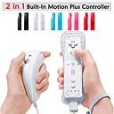 olcso Wii U tartozékok-Vezeték nélküli játékvezérlő Kompatibilitás Wii U / Wii ,  Wii MotionPlus játékvezérlő Fém / ABS 1 pcs egység