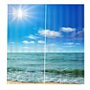 billige 3D gardiner-Multifunksjonelle høykvalitets gardiner fortykning full skygge stoff gardiner for stuen vanntett anti-rynke ren polyester dusj gardiner