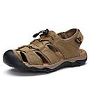 Χαμηλού Κόστους Αντρικά Πέδιλα-Ανδρικά Παπούτσια άνεσης PU Ανοιξη καλοκαίρι Καθημερινό Σανδάλια Αναπνέει Ανοικτό Καφέ / Σκούρο καφέ / Χακί