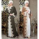 baratos Roupa Tradicional-Desgaste Tradicional e Cultural Abaya Mulheres Roupa Diária Algodão Renda / Combinação Abaya
