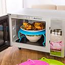 ราคาถูก อุปกรณ์ทำความสะอาดห้องครัว-พลาสติก Steamer ตัวยึด สำหรับเตาไมโครเวฟ Gadget ครัวสร้างสรรค์ เครื่องมือเครื่องใช้ในครัว ใช้เป็นประจำ มัลติฟังก์ชั่น Kitchen 1pc