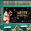 baratos Adesivos de Parede-Filme de Janelas e Adesivos Decoração Padrão / Natal Geométrica / Personagem PVC Adesivo de Janela / Engraçado