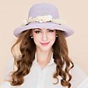 baratos Artigos para Cílios-Fibra Natural Chapéus De Palha com Floral 1pç Casual / Roupa Diária Capacete