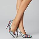 ราคาถูก รองเท้าส้นสูงผู้หญิง-สำหรับผู้หญิง ซาติน ฤดูใบไม้ผลิ & ฤดูใบไม้ร่วง Chinoiserie รองเท้าส้นสูง ส้น Stiletto Pointed Toe ดอกไม้ผ้าซาติน สีดำ / สีบานเย็น / สีน้ำเงินกรมท่า / งานแต่งงาน / พรรคและเย็น