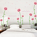 Χαμηλού Κόστους Αυτοκόλλητα Τοίχου-Διακοσμητικά αυτοκόλλητα τοίχου - Αεροπλάνα Αυτοκόλλητα Τοίχου Νεκρή Φύση / Άνθινο / Βοτανικό Υπνοδωμάτιο / Εσωτερικό
