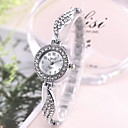 baratos Brincos-Mulheres Relógio Elegante Quartzo imitação de diamante Analógico Clássico - Dourado Prata