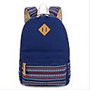 ราคาถูก School Bags-Large Capacity ผ้าใบ ซิป กระเป๋าโรงเรียน ทุกวัน สีม่วง / สีบานเย็น / สีกากี