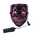 baratos Colar de Pingente-LED Máscara Inspirado por Filme assustador Rosa Laranja Dia Das Bruxas Carnaval Adulto Homens Mulheres