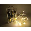 baratos Iluminação de Motocicleta-1.5 v 2 m 20 leds levou luz de tira de fio de prata 2 aa bateria operado luzes de fadas guirlandas de natal festa de casamento do feriado