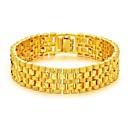 billige Herrearmbånd-Herre Kjeder & Lenkearmbånd Elegant Kreativ Mote Dubai 18K Gull Armbånd Smykker Gull Til Fest Daglig