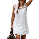 povoljno Modne naušnice-Žene Veći konfekcijski brojevi Elegantno Čipka Shift Skater kroj Haljina - Čipka, Jednobojni Mini