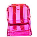 ราคาถูก เป้แฟชั่น-Large Capacity พีวีซี ซิป กระเป๋าเป้สะพายหลัง สีทึบ ทุกวัน สีบานเย็น