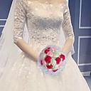 baratos Lembrancinhas Práticas-Bouquets de Noiva Buquês Casamento / Festa de Casamento Gorgorão / vidro / Liga de alumínio e magnésio 11-20 cm