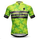 Χαμηλού Κόστους Τζάκετ Ποδηλασίας-21Grams Ανδρικά Κοντομάνικο Φανέλα ποδηλασίας Πορτοκαλί Πράσινο Μπλε Καρό Ποδήλατο Αθλητική μπλούζα Μπολύζες Ποδηλασία Βουνού Ποδηλασία Δρόμου Αναπνέει Ύγρανση Γρήγορο Στέγνωμα Αθλητισμός / Ελαστίνη