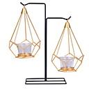 Χαμηλού Κόστους Κεριά & Κηροπήγια-μινιμαλιστικό στυλ Σίδερο Κηροπήγια 4pcs, Κερί / Κερί