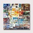 billige Abstrakte malerier-Hang malte oljemaleri Håndmalte - Abstrakt Moderne Uten Indre Ramme