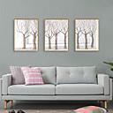 baratos Quadros com Moldura-Impressão de Arte Emoldurada Conjunto Emoldurado - Abstrato Botânico Poliestireno Ilustração Arte de Parede
