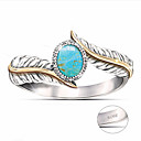 billige Fashion Rings-personlig tilpasset Klar Turkis Ring Klassisk Gave Love Festival Geometrisk Form 1pcs Sølv