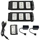 billige DVD-spillere til bilen-MJX B5W Bugs 5W  F20 7.4V 1800mAh 1set batteri / Bærbar lader Rc Kvadrokoptere Rc Kvadrokoptere Rask lading / Beste kvalitet / 2 i 1