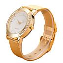 baratos Copos Inovadores-Relógio Elegante Aço Inoxidável Analógico Dourado