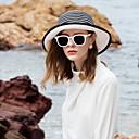 baratos Artigos para Cílios-Fibra Natural Chapéus De Palha com Laço / Bloco de Cor 1pç Casual / Roupa Diária Capacete