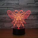 Χαμηλού Κόστους 3D φώτα τη νύχτα-1pc 3D Nightlight USB Δημιουργικό / Γενέθλια / Με θύρα USB 5 V