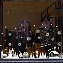 billige Veggklistremerker-Vindufilm og klistremerker Dekorasjon Mønstret / Jul Geometrisk / Figurer PVC Vindusklistremerke / Morsom