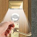 baratos Acessórios para Luzes Automotivas-1 conjunto de 2 w 4led infravermelho fechadura da porta do corpo humano lâmpada de indução corpo humano indução noite luz gabinete corredor interior indução lâmpada presente luz