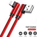 billige Hårtilbehør-Belysning Kabel 1,0 m (3 ft) Hurtig kostnad Nylon USB-kabeladapter Til iPad / iPhone