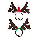 billige Blondeparykker med menneskehår-Yiwu pho_07tx søte små elg ører pannebånd hårnål jul liten gevir hodeplagg dekorasjon barnebånd smykker rød hatt