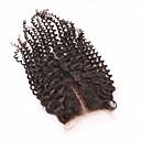 billige Deler til motorsykkel og ATV-Clytie Brasiliansk hår 4X4 Lukking Krøllet Midtre del Midtdel Sveitsisk blonde Ekte hår Dame Dame Festival / Svart