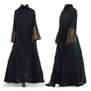 Χαμηλού Κόστους Ethnic & Cultural Κοστούμια-Παραδοσιακή & Πολιτιστική Φορά Αμπάγια Γυναικεία Καθημερινά Ρούχα Πολυεστέρας Σχέδιο / Στάμπα Μακρυμάνικο Αμπάγια