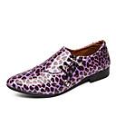 billige Slip-ons og loafers til herrer-Herre Novelty Shoes Fuskelær Vår sommer Fritid / Britisk Oxfords Skli Leopard Mørk Lilla / Gull / Blå / Fest / aften / Paljett / Fest / aften