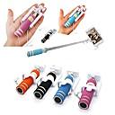 billige Vegglamper-Mini-mote justerbar håndholdt selvbetjente pinne trådkontroll bærbare uttrekkbare mobiltelefon selfie pinner