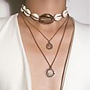 Χαμηλού Κόστους Μοδάτο Κολιέ-Γυναικεία Κρεμαστά Κολιέ Κρεμαστό πολυεπίπεδη Κολιέ Μοντέρνα Χρώμιο Όστρακο Χρυσό Ασημί 38 cm Κολιέ Κοσμήματα 1pc Για Δώρο Καθημερινά Απόκριες Αργίες Φεστιβάλ