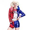 Χαμηλού Κόστους Ελαιογραφίες-Harley Quinn Στολές Γυναικεία Τηλεόραση / Ταινία Halloween Επίδοση Στολές Ηρώων Θεματικό κόμμα Κοστούμια Γυναικεία Στολές χορού Πολυεστέρας Διαφορετικά Υφάσματα