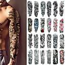 billiga tatuering klistermärken-1 pcs tillfälliga tatueringar Klassisk / Bästa kvalitet Kropp / brachium / Ben Vattenöverföringsklistermärke
