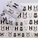Χαμηλού Κόστους Αυτοκόλλητα Νυχιών-1 pcs Αυτοκόλλητα Σειρά κινούμενων σχεδίων τέχνη νυχιών Μανικιούρ Πεντικιούρ Mini Style / Ασφάλεια / Λεπτή σχεδίαση Στυλάτο / Απλός Καθημερινά / Φεστιβάλ