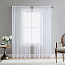 cheap Circle Design-Modern rod Style  White Sheer Curtains Living Room Storage