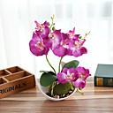 Χαμηλού Κόστους Βάζα & Καλάθι-τεχνητά λουλούδια phalaenopsis μπονσάι με διακόσμηση διακοσμητικών σπιτιών