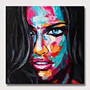billiga Människomålningar-Hang målad oljemålning HANDMÅLAD - Människor Popkonst Moderna Utan innerram