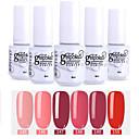 billige Neglelakk og gellakk-neglelakk 6 stk. farge 145-150 xyp avkjølt UV / led gel neglelakk fargelakssett sett
