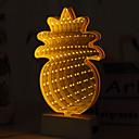 Χαμηλού Κόστους Βάζα & Κουτιά-1pc LED νύχτα φως Κίτρινο Μπαταρίες AA Powered Δημιουργικό 5 V