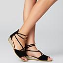 ราคาถูก รองเท้าแตะผู้หญิง-สำหรับผู้หญิง รองเท้าแตะ รองเท้าส้นตึก Nubuck leather / หนังนิ่ม ความสะดวกสบาย ฤดูใบไม้ผลิ / ฤดูร้อน ผ้าขนสัตว์สีธรรมชาติ / แดง / ฟ้า / EU39