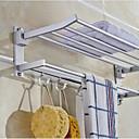 Χαμηλού Κόστους Ράφια Μπάνιου-ράφι λουτρού πολυλειτουργικό μοντέρνο ανοξείδωτο 1τμ - μπάνιο διπλού τοίχου τοποθετημένο