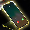 billige Sammenkoblede blokker-iphone x / xs / xs max / xr / 7 / 7s / 8 / 8plus telefon tilfelle gjennomsiktig led flash lyse påminne innkommende samtale stilig deksel