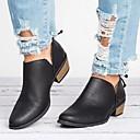 ราคาถูก รองเท้าแตะและรองเท้าโลฟเฟอร์สำหรับผู้หญิง-สำหรับผู้หญิง รองเท้าส้นเตี้ยทำมาจากหนังและรองเท้าสวมแบบไม่มีเชือก ส้นหนา PU ฤดูใบไม้ผลิ สีดำ / สีชมพู / ผ้าขนสัตว์สีธรรมชาติ