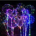 cheap Wedding Decorations-1pc Luminous Led Balloon Transparent Round Bubble Decoration Birthday Party Wedding Decor LED Balloons Christmas Gift