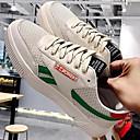 baratos Tênis Masculino-Homens Sapatos Confortáveis Lona Primavera Tênis Branco e Preto / Rosa e Branco / Branco e Verde