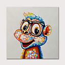 billiga Djurporträttmålningar-Hang målad oljemålning HANDMÅLAD - Djur Popkonst Moderna Inkludera innerram